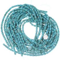 Round Edge Cylinder Turquoise Beads 34759