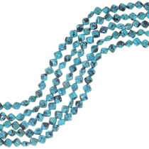 Dalmatian Turquoise Cushion Beads 34761