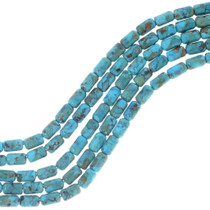 Genuine Turquoise Tube Beads 34762