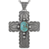 Old Pawn Turquoise Cross Pendant 35055