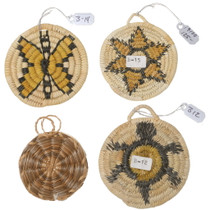 Hand Woven Native American Miniature Baskets 35057