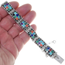 Multi Stone Sterling Silver Ladies Bracelet 35079