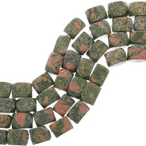Unakite Beads Beveled Rectangular Brick Beads 34771