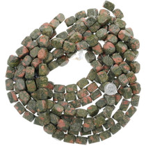 Chunky Stone Beads Natural Unakite Rectangular 34771