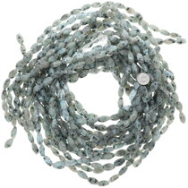Side Cut Oval Sesame Jasper Beads 34774