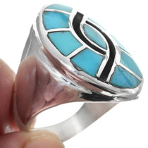 Native American Turquoise Mens Ring 35088