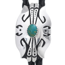 Green Turquoise Silver Bolo Tie 35090