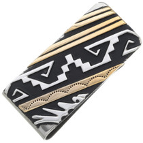 Navajo Silver Gold Money Clip 35091