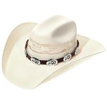 Navajo Heartline Bear Silver Hatband 35094