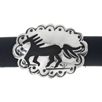 Silver Concho Leather Horse Hatband 35095