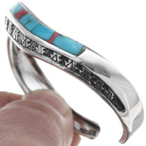Native American Silver Turquoise Bracelet 35098