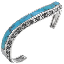 Navajo Turquoise Sterling Silver Cuff Bracelet 35099