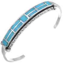 Ladies Inlaid Turquoise Navajo Bracelet 35100