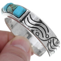 Native American Carved Turquoise Bracelet 35101