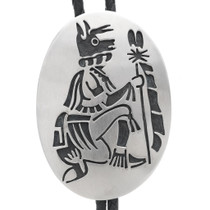 Overlaid Silver Wolf Kachina Bolo Tie 35107