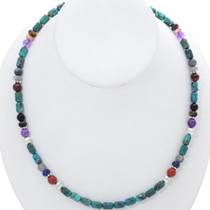 Navajo Turquoise Gem Beaded Necklace 35109