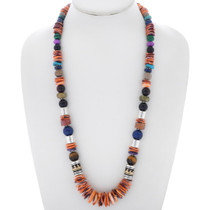 Navajo Spiny Oyster Gem Beaded Necklace 35110