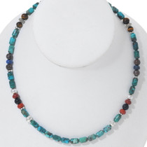 Navajo Turquoise Gem Bead Necklace 35111