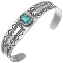 Fred Harvey Silver Turquoise Cuff Bracelet 35113