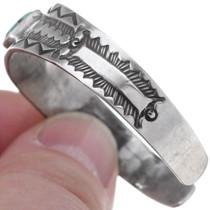 Hammered Sterling Silver Navajo Bracelet 35113