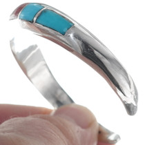 Navajo Turquoise Sterling Silver Cuff 35115