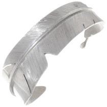 Vintage Sterling Silver Feather Ladies Cuff Bracelet 35116