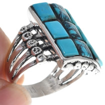 Sterling Silver Navajo Made Turquoise Ring 35122