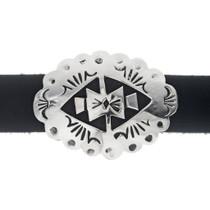 Hand Made Navajo Geometric Pattern Silver Hatband 35123