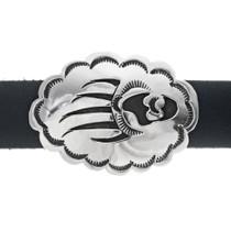 Navajo Hand Made Bear Claw Silver Hatband 35126