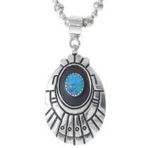 Navajo Turquoise Sterling Silver Pendant 35125