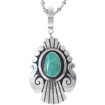 Green Turquoise Turquoise Silver Navajo Pendant 35127