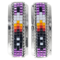 Seed Bead Navajo Silver Earrings 35130