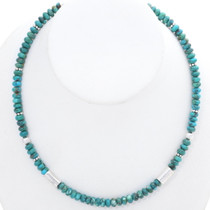 Navajo Turquoise Bead Necklace Choker 35132