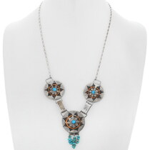 Navajo Wedding Basket Necklace 35137
