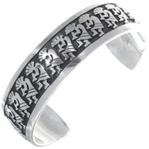 Navajo Overlaid Silver Kokopelli Bracelet 35143