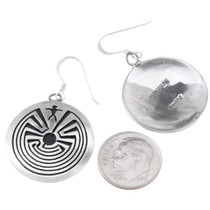 French Hook Navajo Man in the Maze Earrings 35145