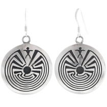 Man in the Maze Sterling Silver Earrings 35145