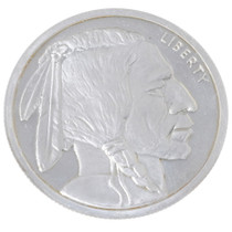 Vintage Buffalo .999 Fine Silver Bullion 5 Ounces 35148