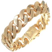 Mens Gold Curb Link Bracelet 35150