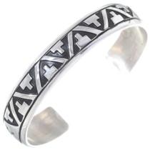 Navajo Sterling Silver Cuff Bracelet 35152