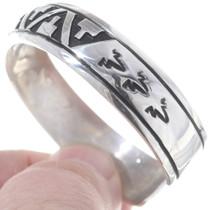 Native American Geometric Patern Silver Bracelet 35152