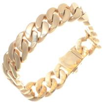 Mens Gold Link Chain Bracelet 35153