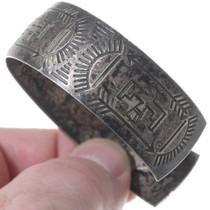 Vintage 1940s Native American Sterling Silver Bracelet 35155