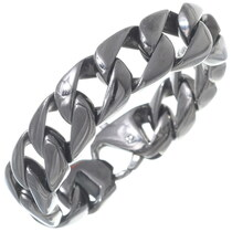 Gloss Black Curb Link Bracelet 35162