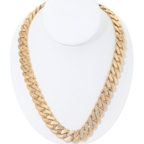 Curb Link Chain Gold Necklace 35164