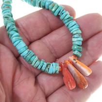 Turquoise Heishi Spiny Oyster Beaded Necklace 35172