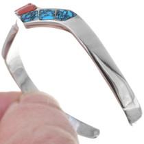Sterling Silver Turquoise Navajo Bracelet 35174