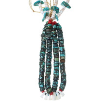 Santo Domingo Turquoise Double Jacla Necklace 35175