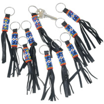 Navajo Beaded Lanyard Leather Key Ring 35181