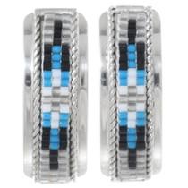 Navajo Sterling Silver Beaded Earrings 35187
